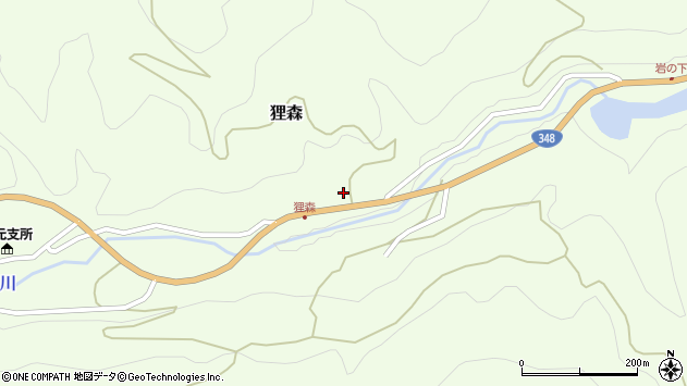 山形県上山市狸森久々取408周辺の地図