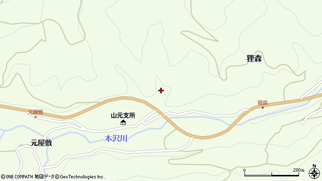 山形県上山市狸森久々取1651周辺の地図