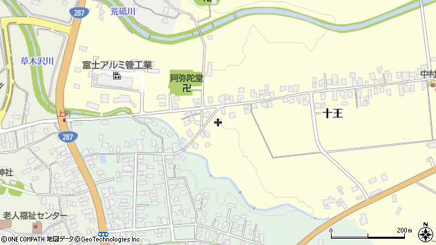 山形県西置賜郡白鷹町十王3056周辺の地図