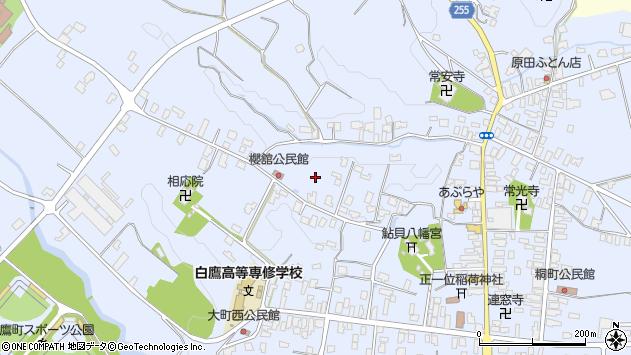 山形県西置賜郡白鷹町鮎貝櫻舘周辺の地図