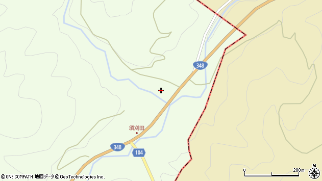 山形県上山市狸森4周辺の地図