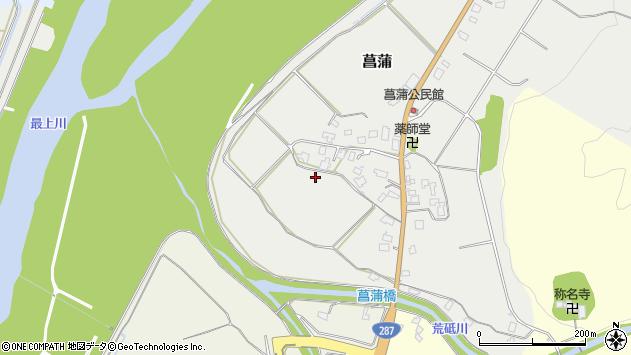 山形県西置賜郡白鷹町菖蒲上菖蒲周辺の地図