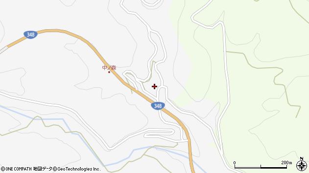 山形県上山市小白府中ノ森636周辺の地図