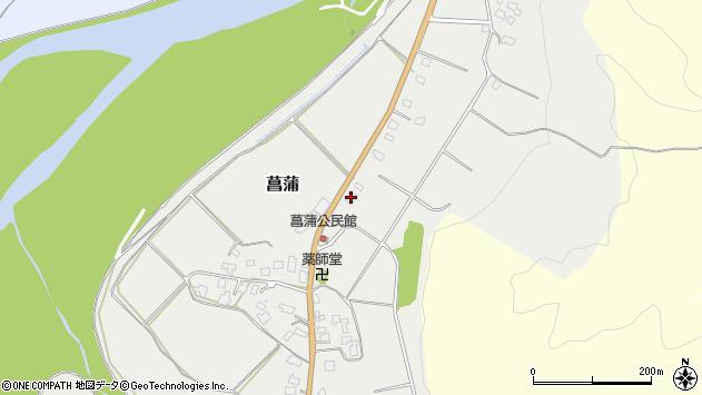 山形県西置賜郡白鷹町菖蒲1038周辺の地図