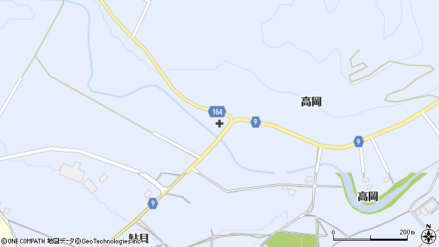 山形県西置賜郡白鷹町高岡2085周辺の地図