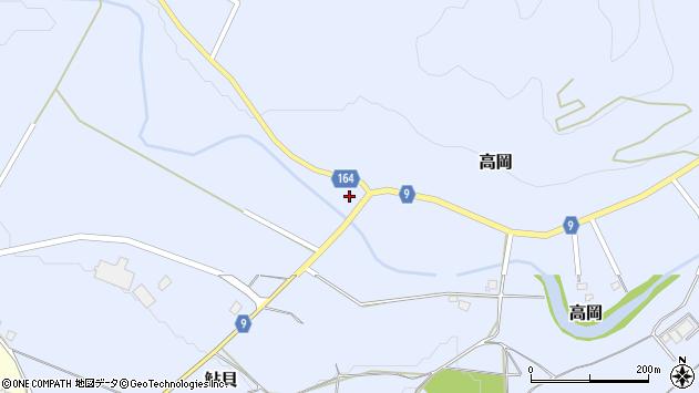 山形県西置賜郡白鷹町高岡周辺の地図