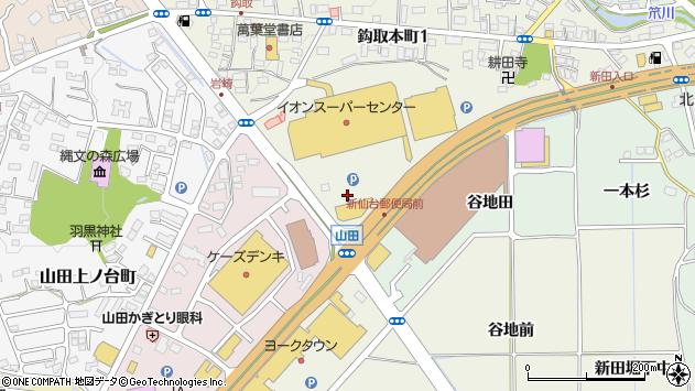 宮城県仙台市太白区鈎取本町1丁目21周辺の地図