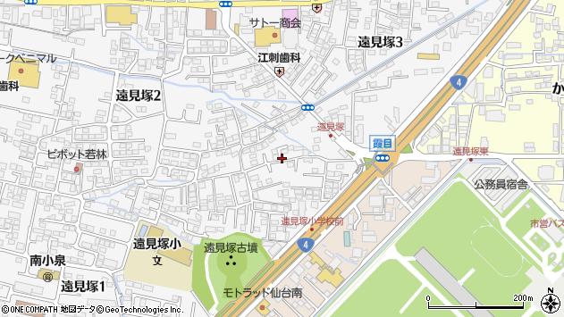 宮城県仙台市若林区遠見塚周辺の地図