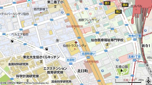 宮城県仙台市青葉区一番町1丁目9周辺の地図
