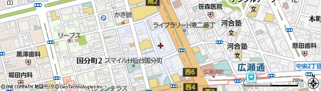 宮城県仙台市青葉区一番町4丁目6-1周辺の地図
