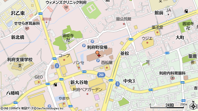 宮城県宮城郡利府町周辺の地図