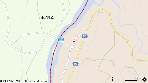 山形県西村山郡大江町三郷甲117周辺の地図
