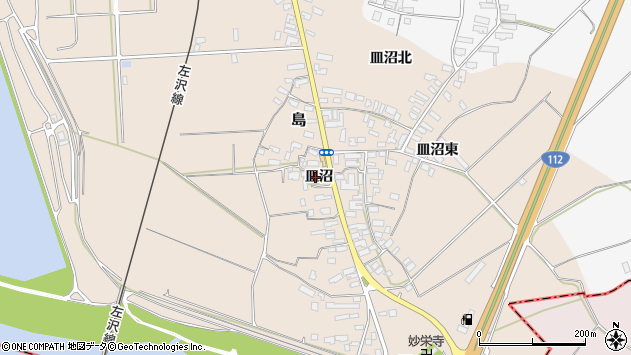 山形県寒河江市島523周辺の地図