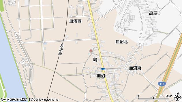 山形県寒河江市島498周辺の地図