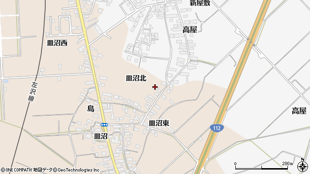 山形県寒河江市島850周辺の地図