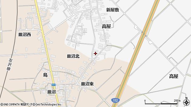 山形県寒河江市高屋西浦2070周辺の地図
