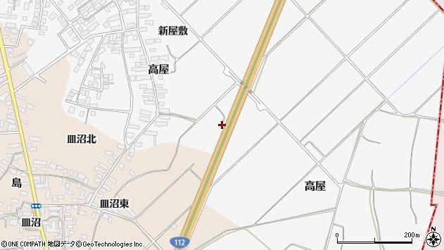 山形県寒河江市高屋西浦584周辺の地図