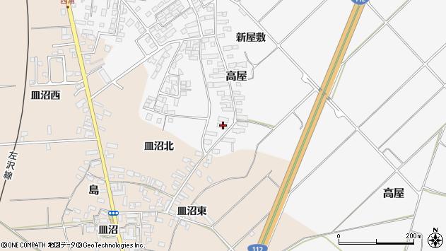 山形県寒河江市高屋西浦2064周辺の地図