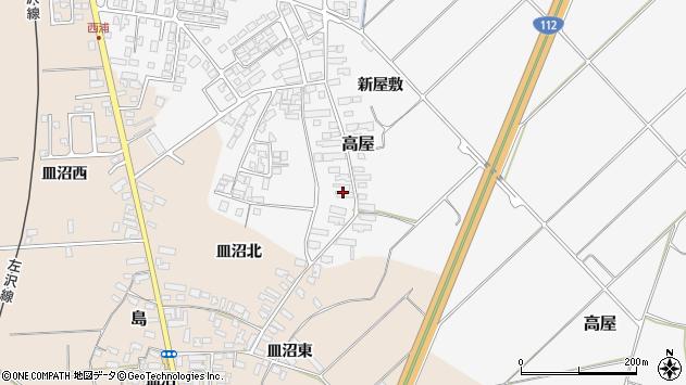 山形県寒河江市高屋西浦2872周辺の地図