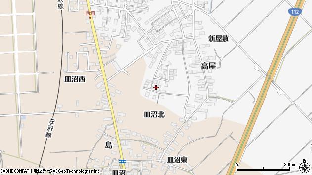 山形県寒河江市高屋西浦119周辺の地図