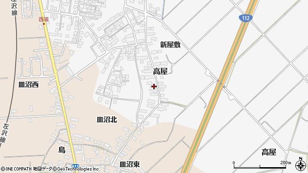 山形県寒河江市高屋西浦104周辺の地図