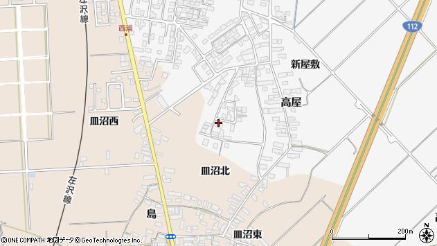 山形県寒河江市高屋西浦118周辺の地図
