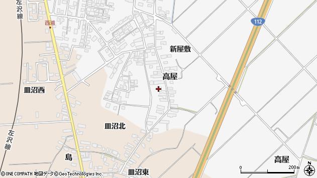 山形県寒河江市高屋西浦140周辺の地図