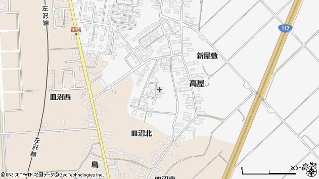 山形県寒河江市高屋西浦110周辺の地図