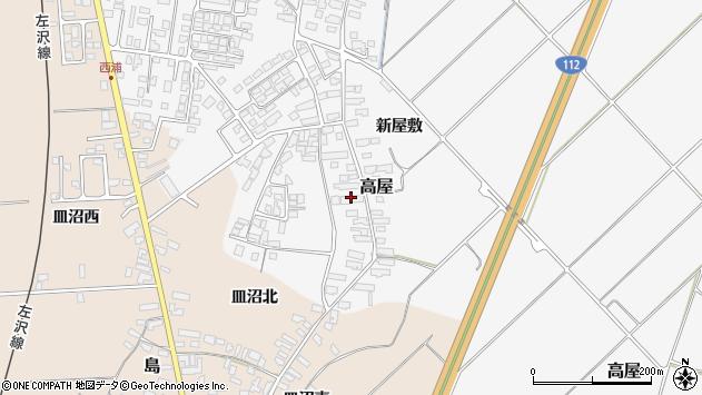 山形県寒河江市高屋西浦142周辺の地図