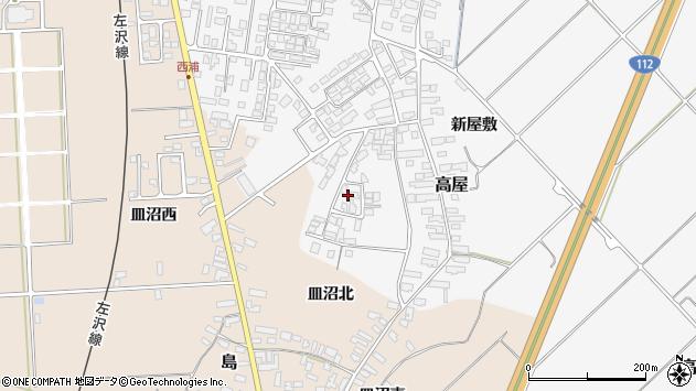 山形県寒河江市高屋西浦117周辺の地図