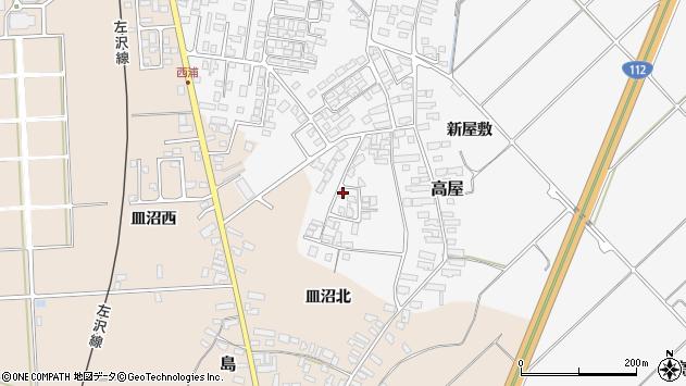 山形県寒河江市高屋西浦109周辺の地図