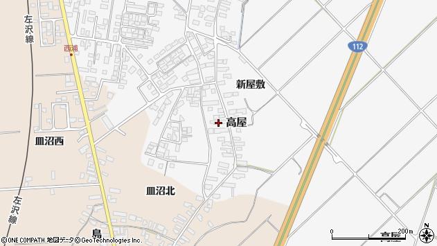 山形県寒河江市高屋西浦145周辺の地図