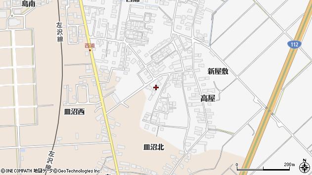 山形県寒河江市高屋西浦107周辺の地図