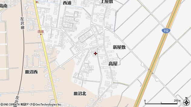 山形県寒河江市高屋西浦2904周辺の地図