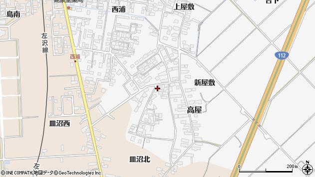 山形県寒河江市高屋西浦148周辺の地図