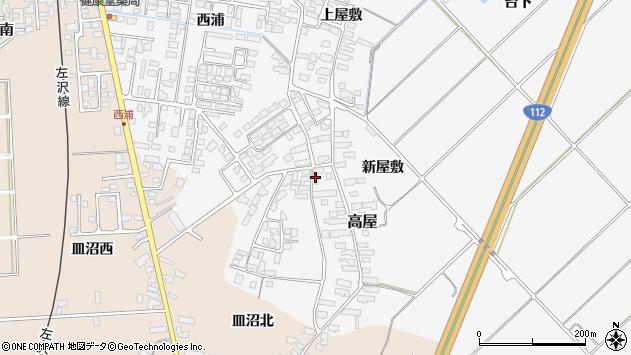 山形県寒河江市高屋西浦158周辺の地図