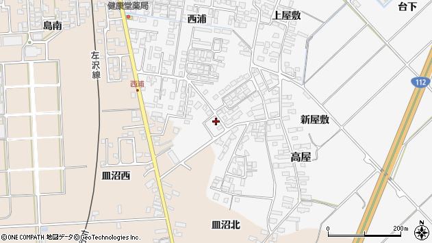 山形県寒河江市高屋西浦491周辺の地図