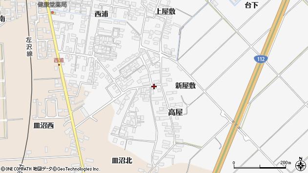 山形県寒河江市高屋西浦159周辺の地図