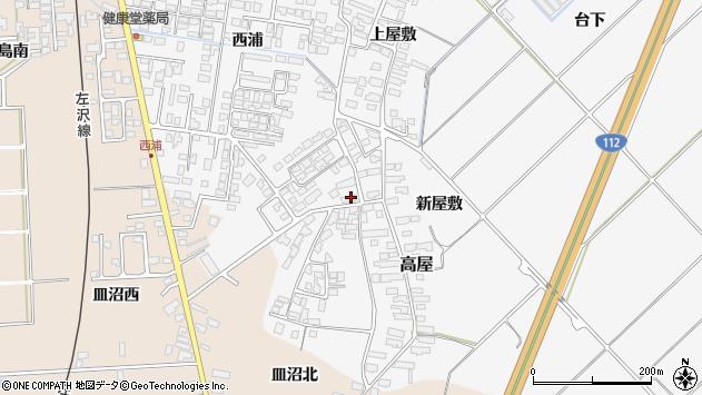 山形県寒河江市高屋西浦2878周辺の地図