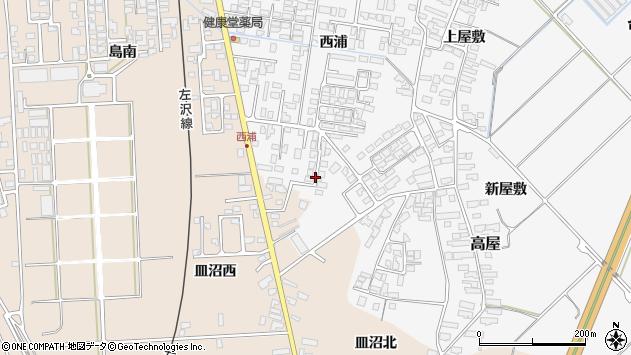 山形県寒河江市高屋西浦472周辺の地図
