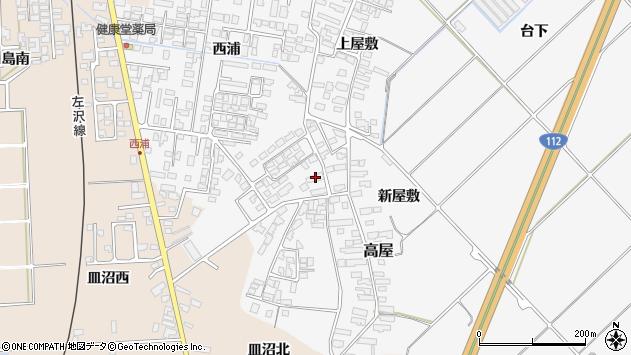 山形県寒河江市高屋西浦163周辺の地図