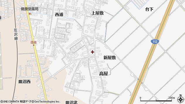 山形県寒河江市高屋西浦166周辺の地図
