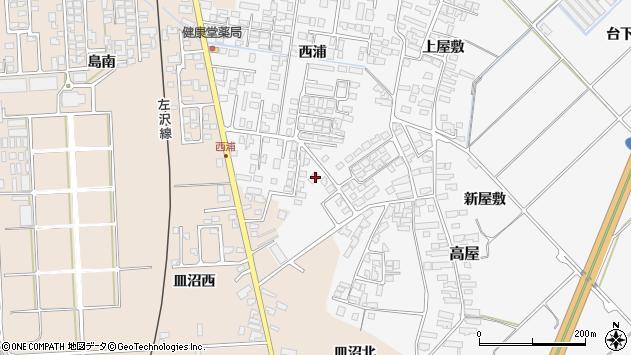 山形県寒河江市高屋西浦475周辺の地図
