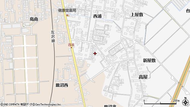 山形県寒河江市高屋西浦450周辺の地図
