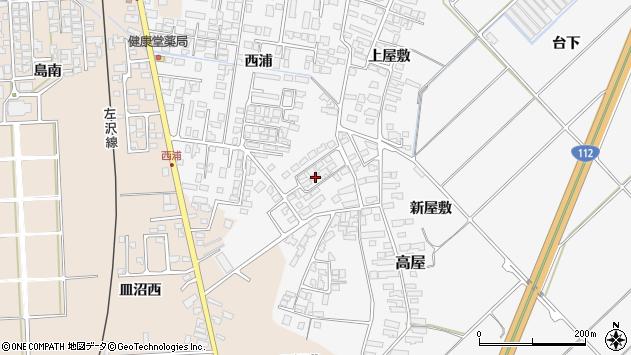 山形県寒河江市高屋西浦500周辺の地図