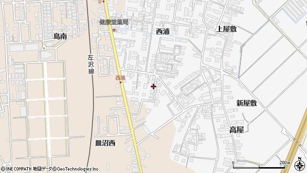 山形県寒河江市高屋西浦454周辺の地図
