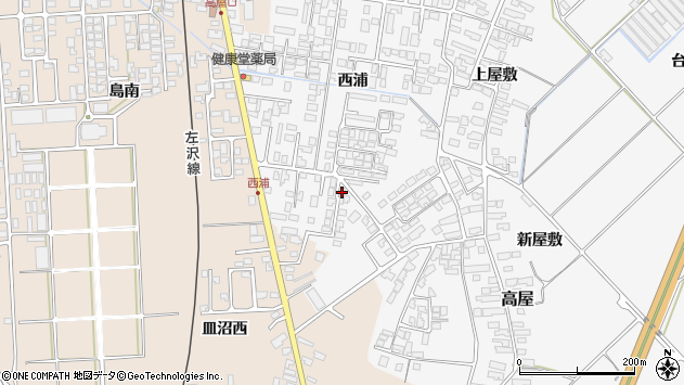 山形県寒河江市高屋西浦453周辺の地図