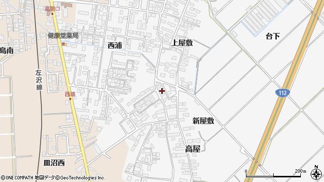 山形県寒河江市高屋西浦530周辺の地図