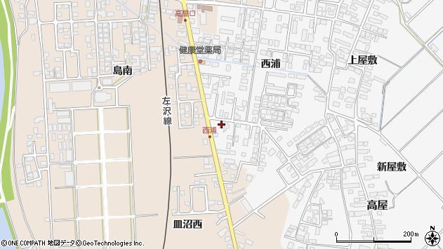 山形県寒河江市高屋西浦462周辺の地図