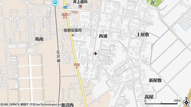 山形県寒河江市高屋西浦442周辺の地図
